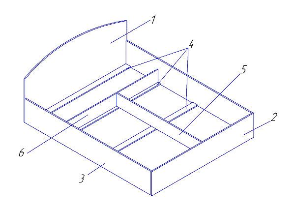 Детали серийной кровати с